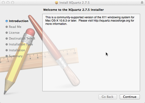 Install XQuartz on Apple Mac