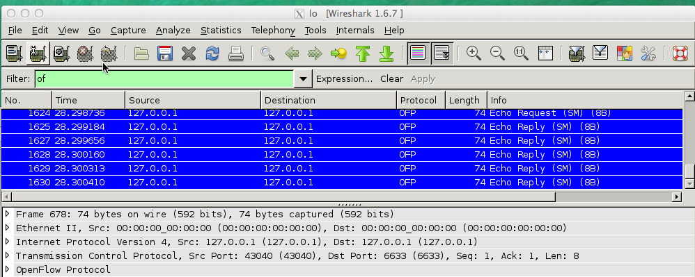 HP VAN SDN Controller - Wireshark install and configuration