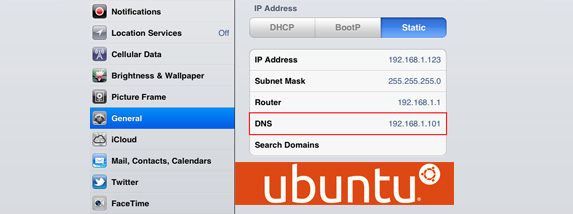 DNS IOS and Ubuntu