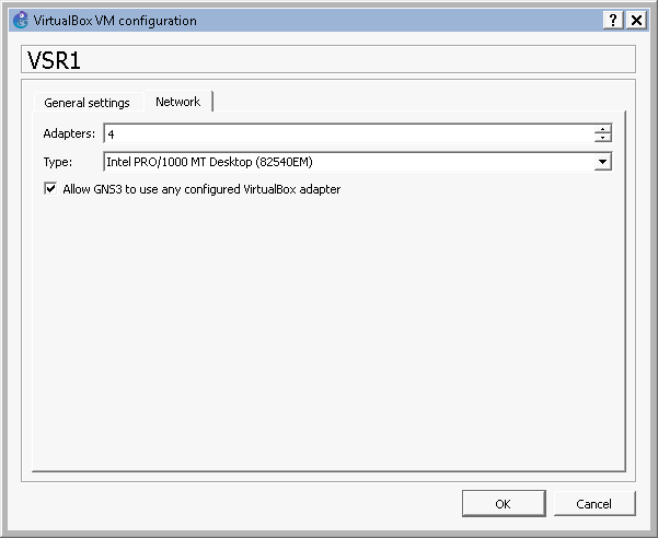 virtual box vm configuration